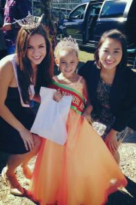 Liberty; Miss Apple Festival 2014 with Judge Allie (Miss Upstate NY 2013)  and Hostess Carrie (Miss Cambridge Mass 2013)