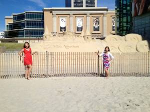 Carrie and I, at the Sand Castle