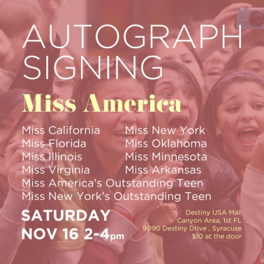 Nina Davuluri Miss America Homecoming - Autographs web