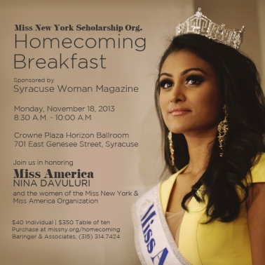 Nina Davuluri Miss America Homecoming - Monday