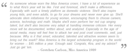 Gretchen Carlson, 1989