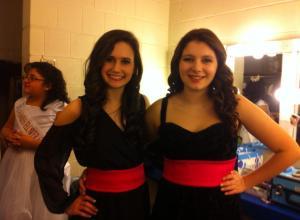 Teen Contestants-Isabel Ann Skormin &  Chrissy Sardano Backstage